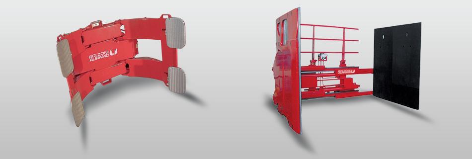 Prídavné zariadenia pre vysokozdvižné vozíky